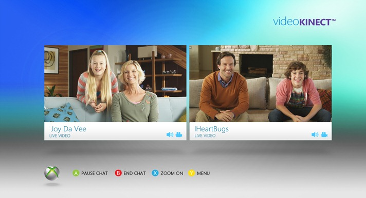 La video chat di Messenger su Xbox 360 con Video Kinect